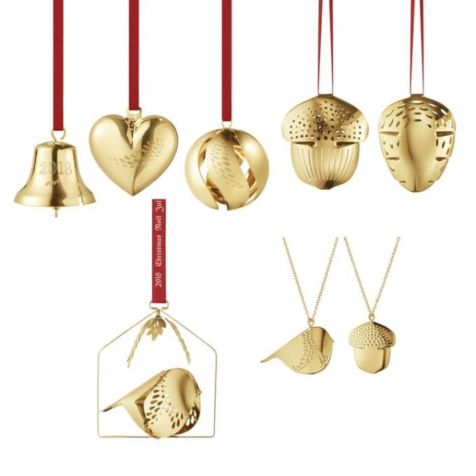 Georg-Jensen-Christmas-Collectibles-2018-Geschenk-Set-8tlg-gold